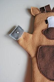 como hacer titeres de guante