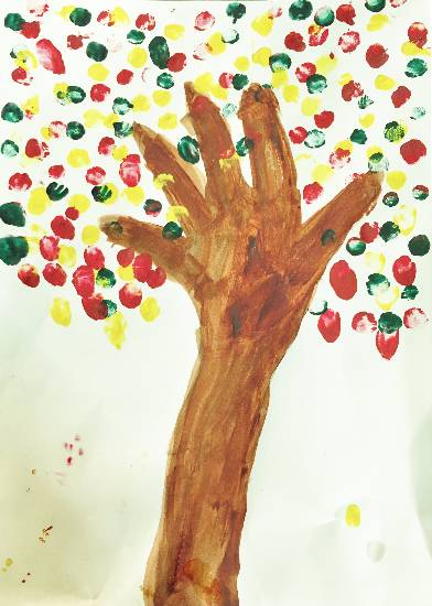 Tree by Amelia Ajith John, child artist featured on www.indiaart.com