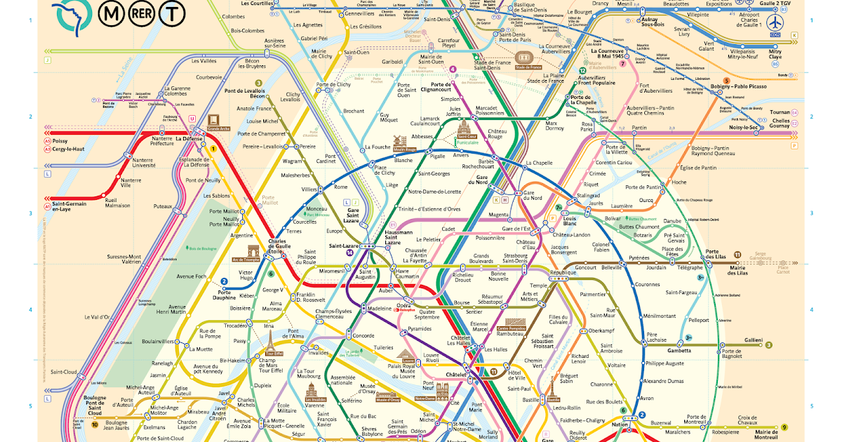 the Paris Metro map gets a new look