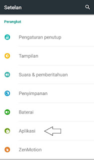 Menonaktifkan aplikasi pada Android