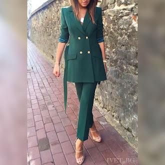 Γυναικείο πράσινο κοστούμι AELLA GREEN