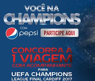 """Promoção """"Você Na Champions Com A Pepsi"""""""