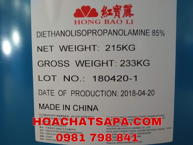 TRỢ NGHIỀN DIETHANOLISOPROPANOLAMINE-DEIPA