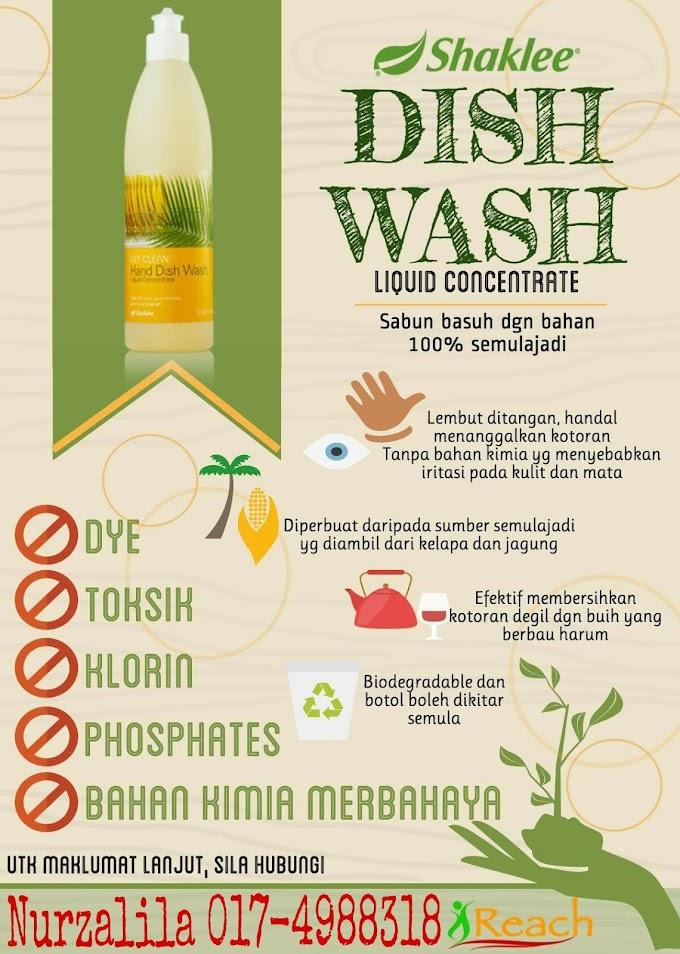 Dish Wash Concentrate Selamat Digunakan Berbanding Pencuci Bahan Kimia