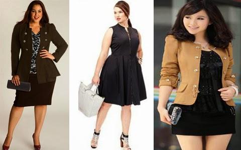 model baju kerja korea wanita gemuk