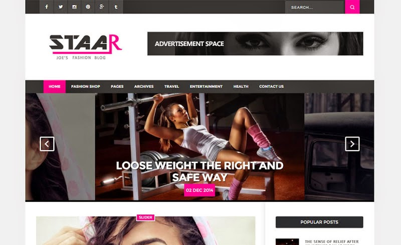 Staar Blogger Template Blogger Templates Gallery - fashion blogger templates