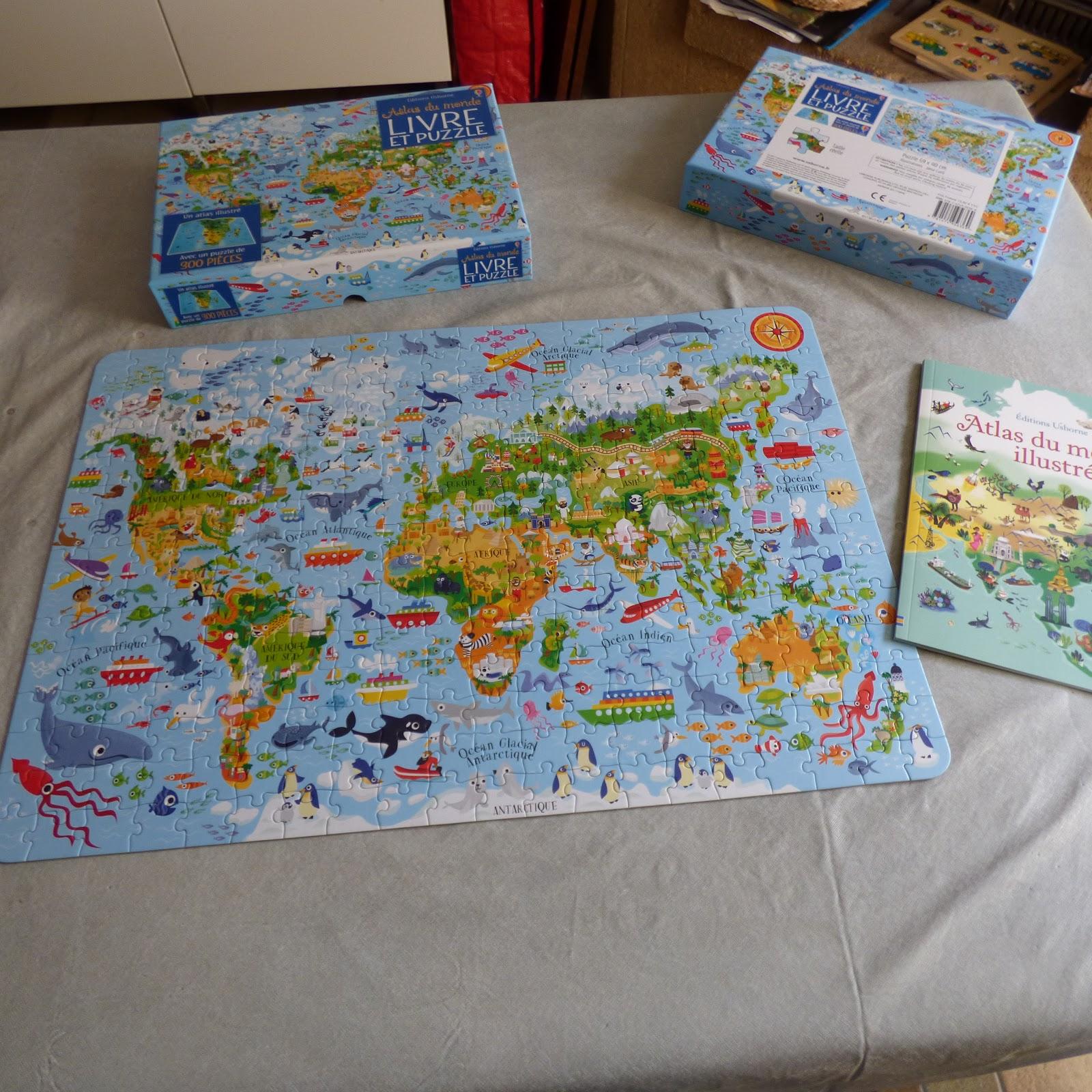 atlas du monde continents