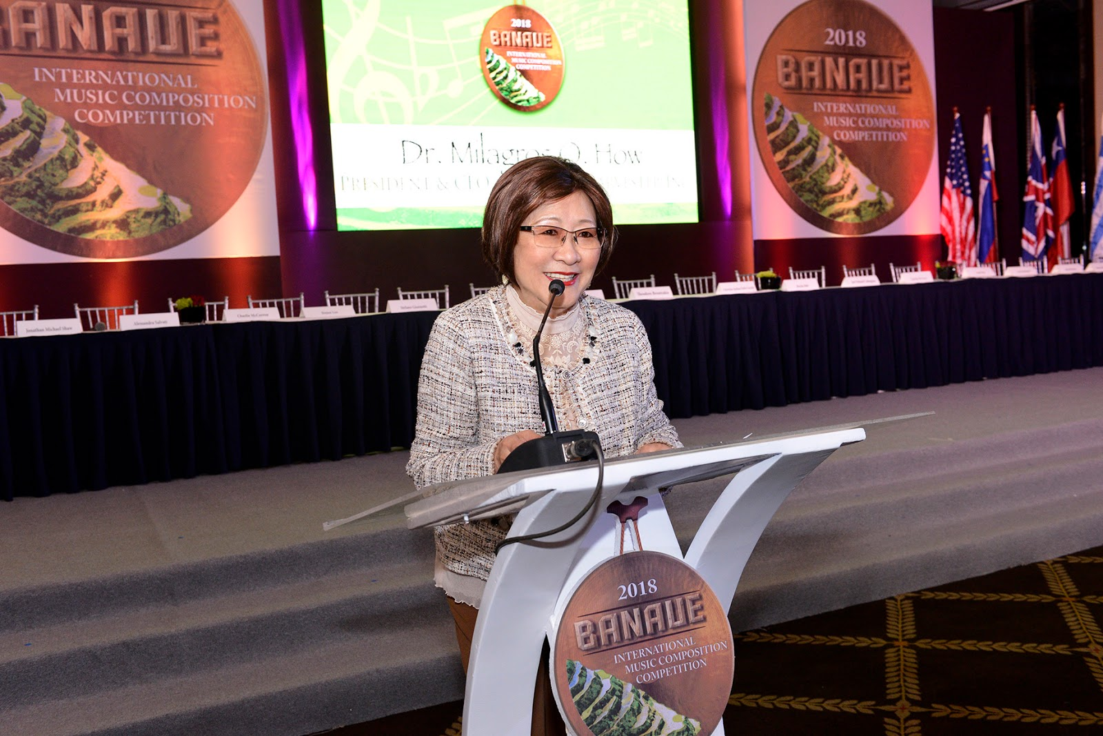 Banaue International Music Composition Competition Chairman and Universal Harvester, Inc. President/CEO Dr. Milagros O. How