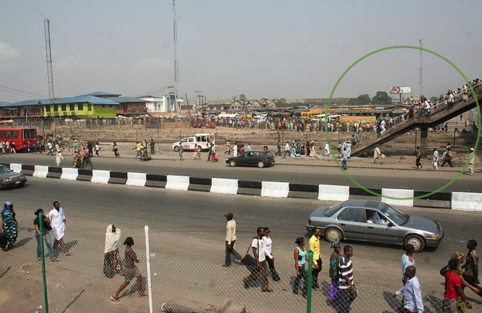 nigerian soldier oshodi bridge