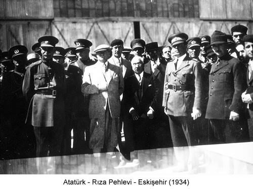 Atatürk Şah Pehlevi 1934 Fotoğraf