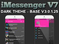 Download BBM MOD IMESSENGER V7 DARK THEME V.3..0.1.25 Newest