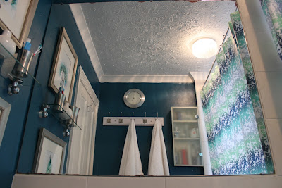 Updating my bathroom with peacock blue paint
