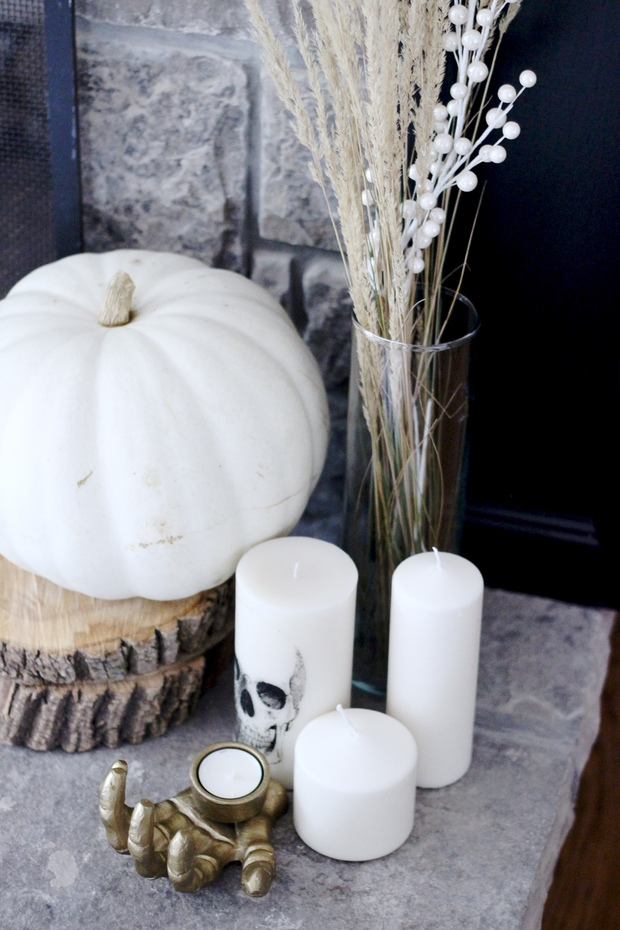 Pastels & Pastries- How to Decorate the Home for Fall, candles, sofas, outdoors in, fall books