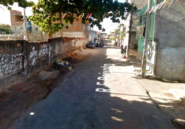 Imagem ilustrativa da rua onde o crime foi realizado (Foto: Google Street View).
