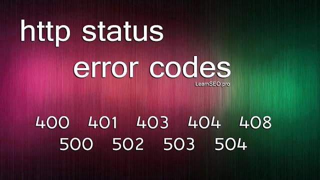 SEO Error Codes
