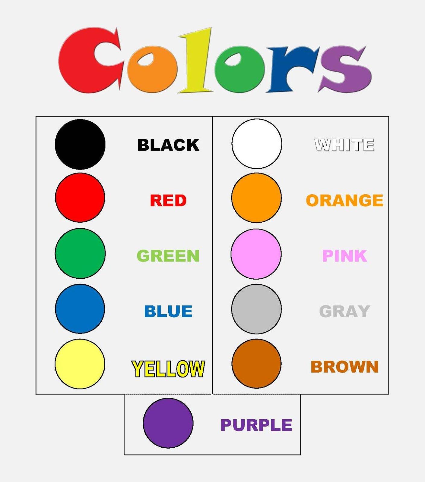 Blue White Color Brown Worksheet