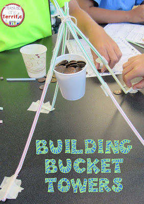 STEM Challenges: This amazing challenge uses one basic material- Straws! Add a few more items and see if your students can build a suspended bucket that will hold weight!