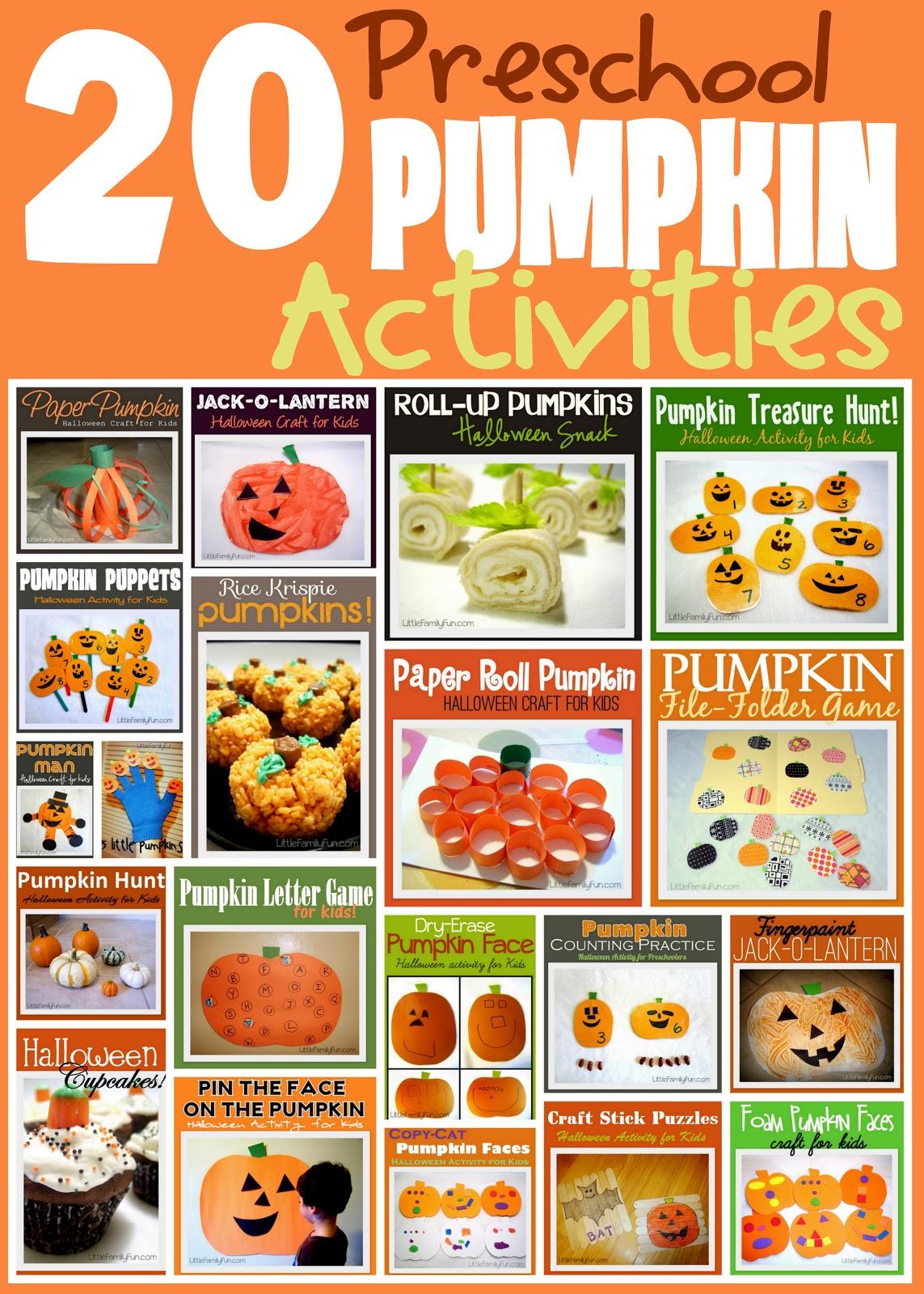 Little Family Fun Pumpkin Activities For Kids