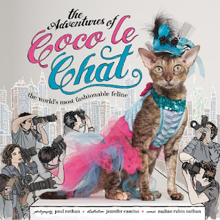 The cover of the book, Coco le Chat