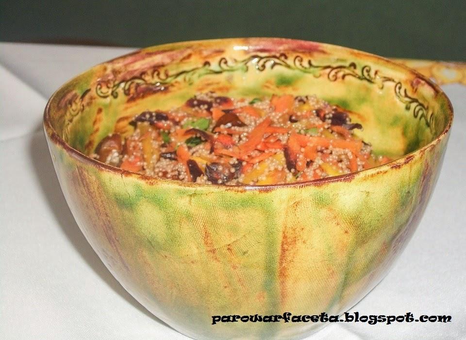 sałatka z warzyw gotowanych na parze, w parowarze