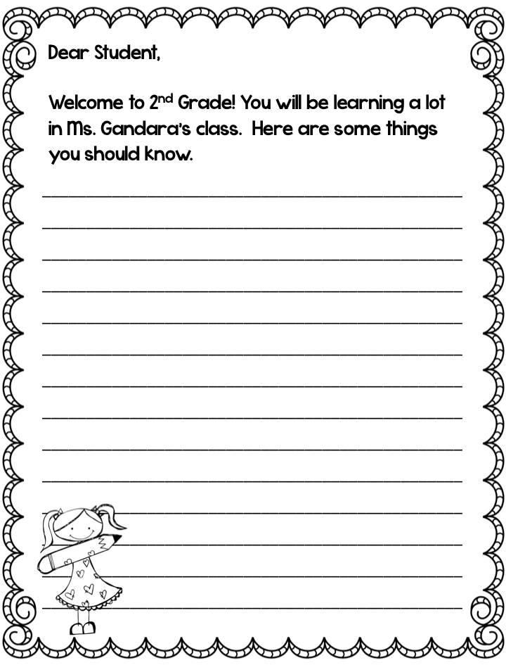 2nd grade writing assessment printable