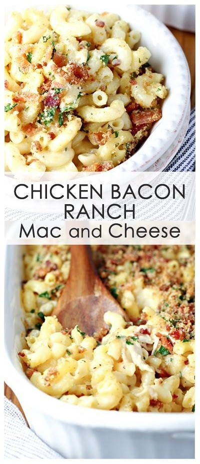 CHICKEN BACON RANCH MAC AND CHEESE RECIPE