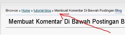 Cara Memasang Breadcrumb di Blogspot