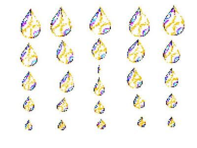 Pixel Colored Designs | FeelHappyFeelGood.Com