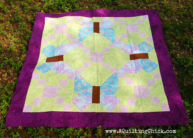 A Quilting Chick - Butterfly Trellis - Full