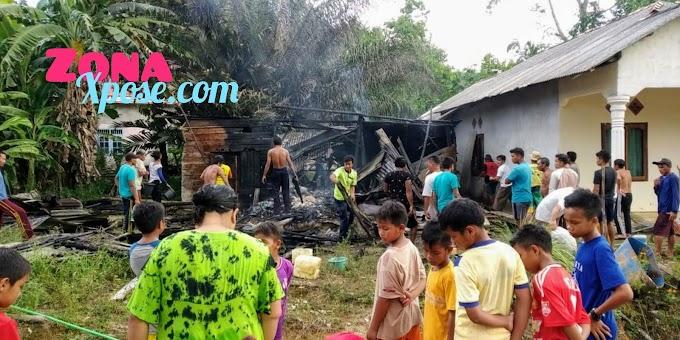 Diduga Aki Dan Tabung Gas Rumah Junai Ludes Terbakar