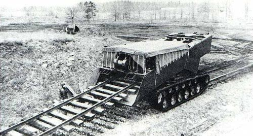 Проект путевого разрушителя M46 Rapid Railway Destructor («Скоростной разрушитель железных дорог»)