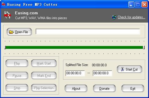 تحميل برنامج قص الاغاني للكمبيوتر مجانا Eusing Free MP3 Cutter