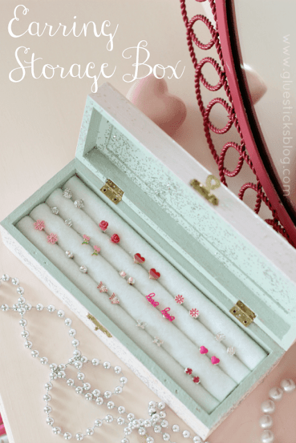 earring storage box DIY
