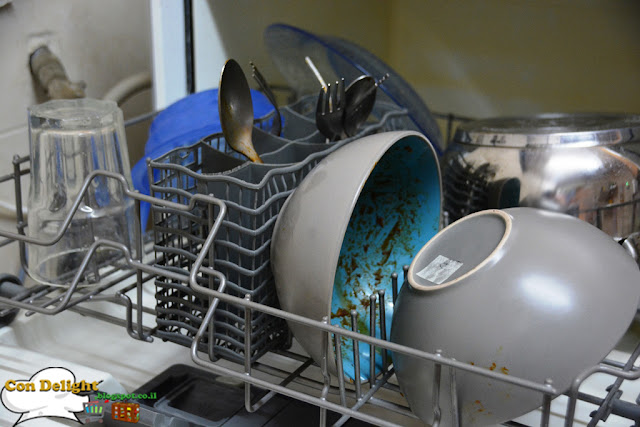 very dirty dishes