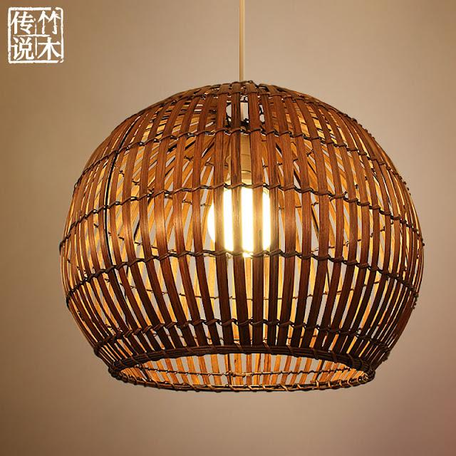 Kerajinan Tangan Lampu Hias Dari Bambu Indah