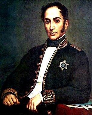 Retrato de Simón Bolivar sentado