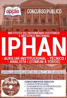 Apostila Concurso IPHAN PDF 2018 Grátis