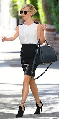 Woman wearing pencil skirt picture