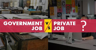 Govt Jobs vs Private Jobs
