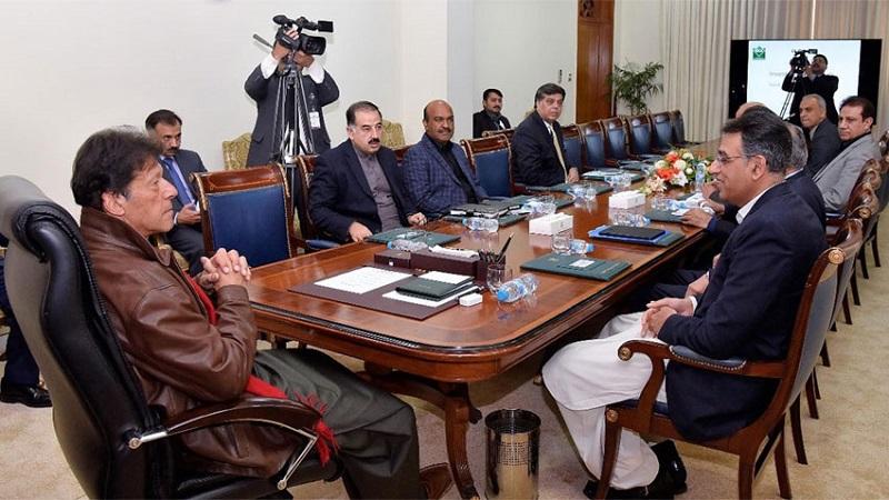 Prime Minister Imran Khan presiding over meeting of economic experts