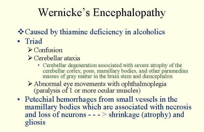 Wernicke Encephalopathy Symptoms