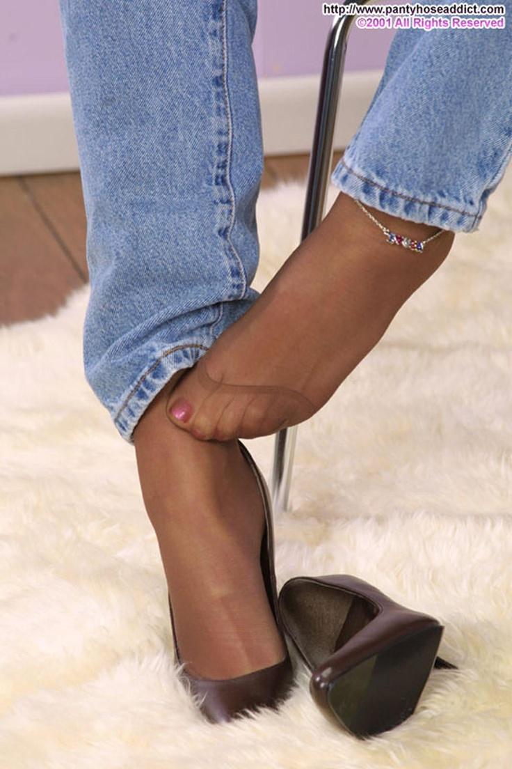 Sexy Nylon Füße