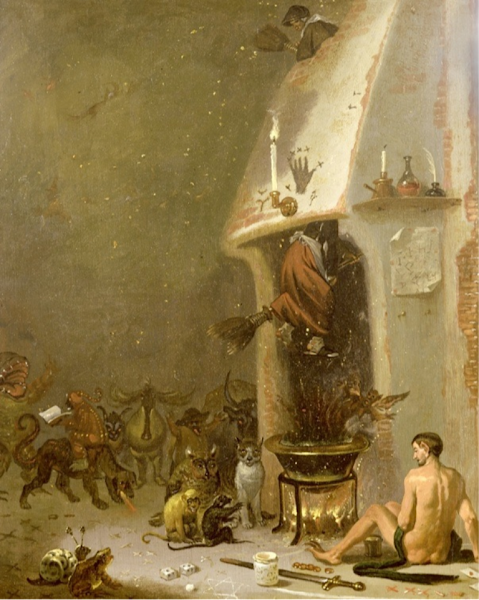 Witches' Kitchen, Cornelis Saftleven, Macabre Art, Macabre Paintings, Horror Paintings, Freak Art, Freak Paintings, Horror Picture, Terror Pictures