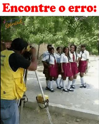 Encontre o erro nesta foto