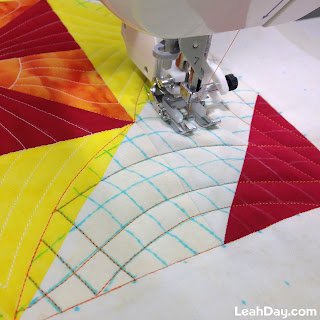 Walking foot quilting tutorial with Leah Day