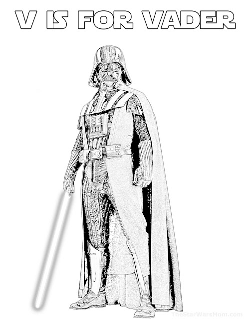 Darth Vader - The Chosen One- Alphabet Coloring Page