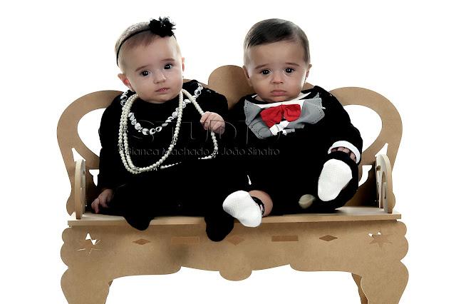 fotografia de bebes gemeos