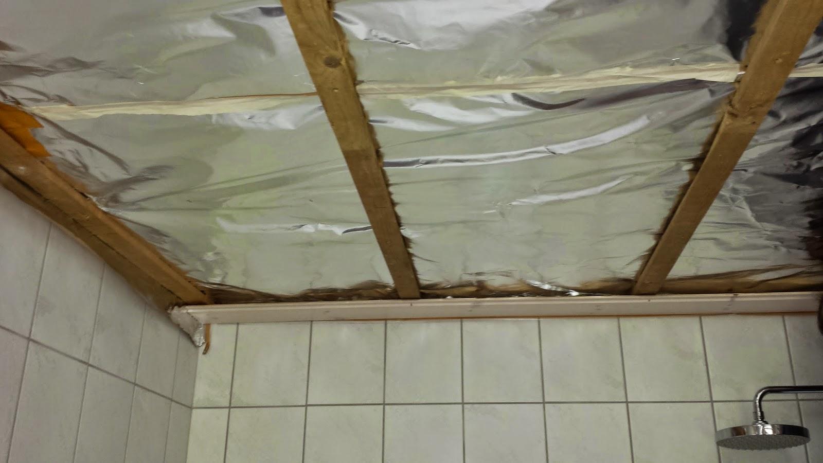 Renovering af badeværelse med fokus på energibesparelser: Nyt loft med fokus på tæt dampspærre