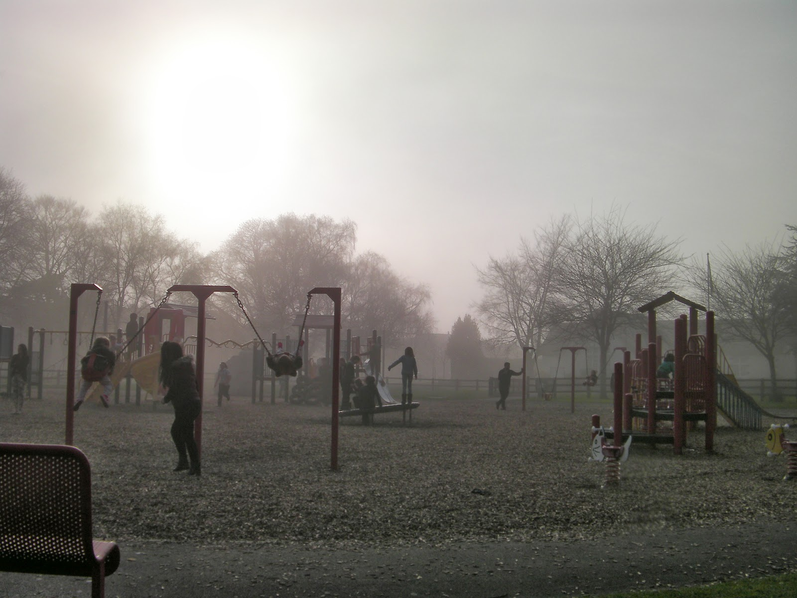 fog and mist obscuring milton park southsea