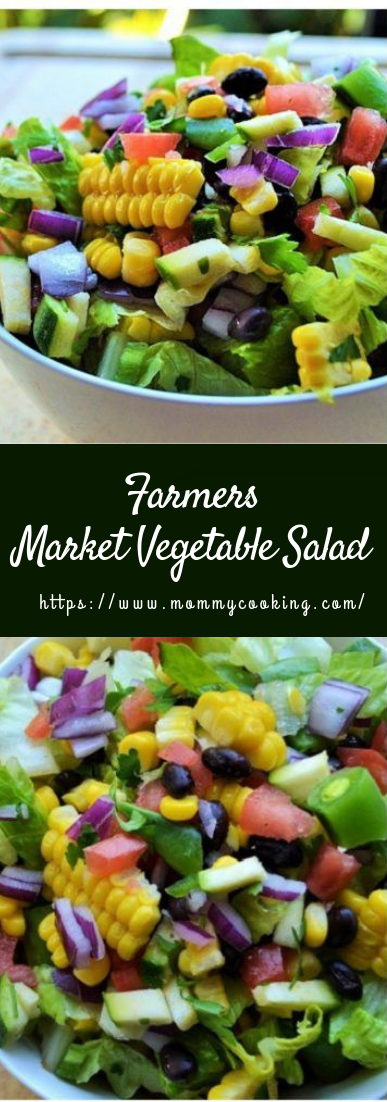 Farmers Market Vegetable Salad #vegetarian #recipe